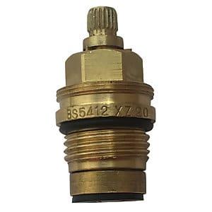 Flat face radiator valve side view
